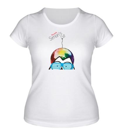 Женская футболка Simons Cat The Party