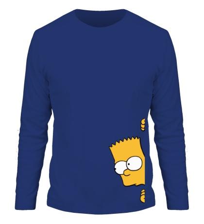 Мужской лонгслив Барт подглядывает