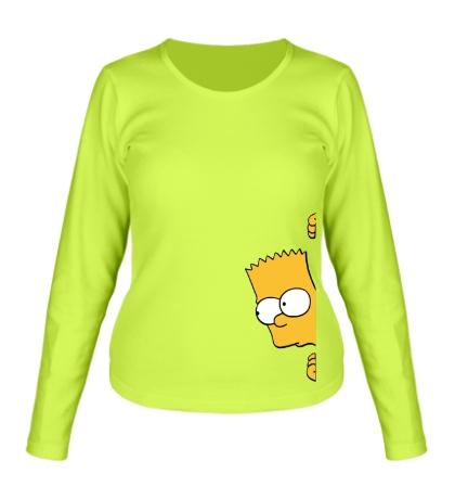 Женский лонгслив Барт подглядывает