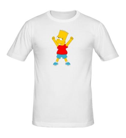 Мужская футболка Маленький Барт Симпсон