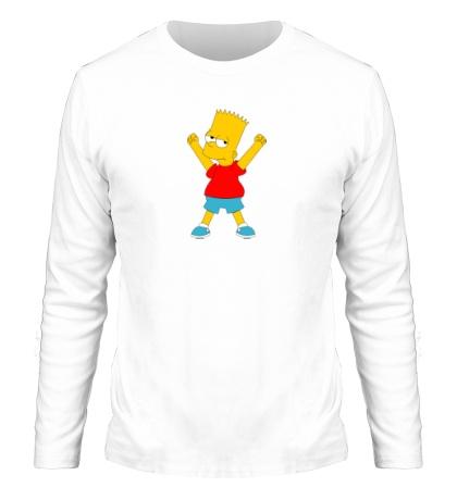 Мужской лонгслив Маленький Барт Симпсон