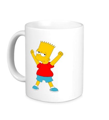Керамическая кружка Маленький Барт Симпсон