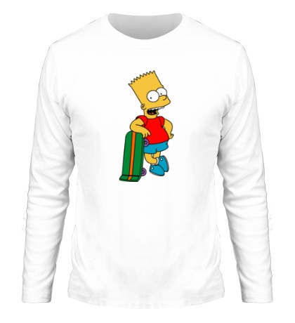 Мужской лонгслив Барт со скейтом