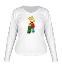 Женский лонгслив Барт со скейтом