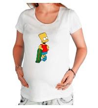 Футболка для беременной Барт со скейтом