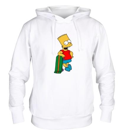 Толстовка с капюшоном Барт со скейтом