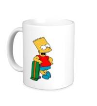Керамическая кружка Барт со скейтом