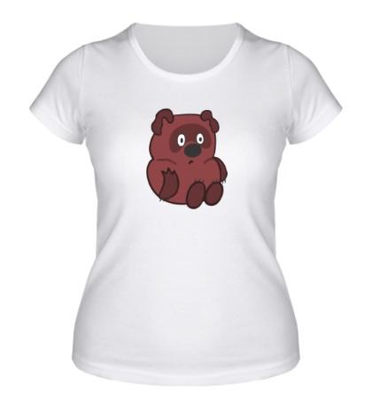 Женская футболка Удивленный Винни Пух