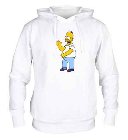 Толстовка с капюшоном Удивленный Гомер