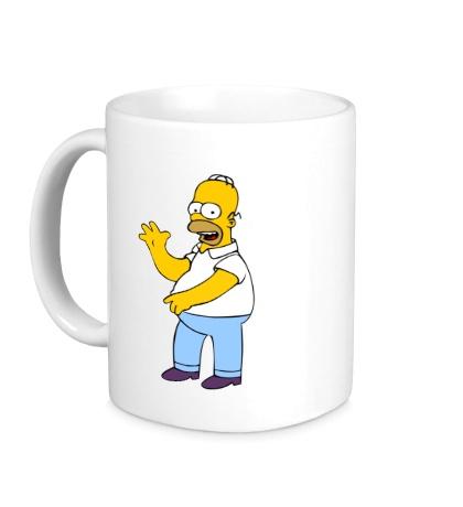 Керамическая кружка Удивленный Гомер