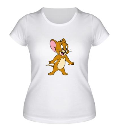 Женская футболка Удивленный Джерри