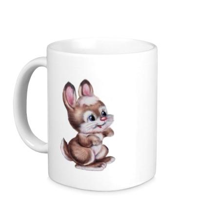 Керамическая кружка Маленький зайчонок