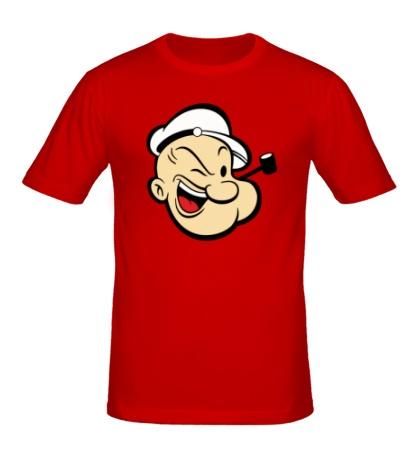 Мужская футболка Попай Моряк лицо