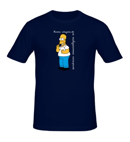 Мужская футболка Жизнь создана для необдуманных поступков