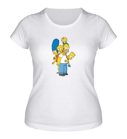 Женская футболка Семья Симпсонов