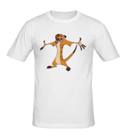 Мужская футболка Тимон разводит руками