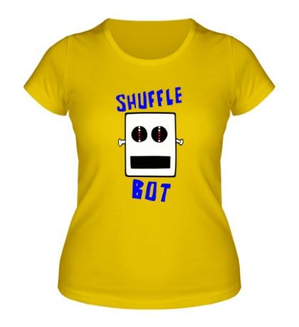Женская футболка Shuffle Bot