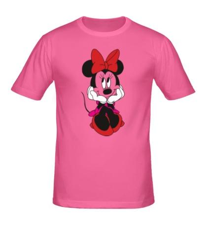 Мужская футболка Минни Маус с бантиком