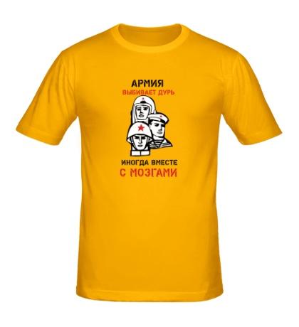 Мужская футболка Армия выбивает дурь