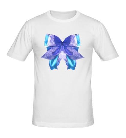 Мужская футболка Голубой бантик