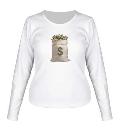 Женский лонгслив Мешок с деньгами