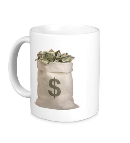 Керамическая кружка Мешок с деньгами