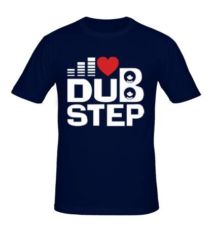 Мужская футболка Dubstep love
