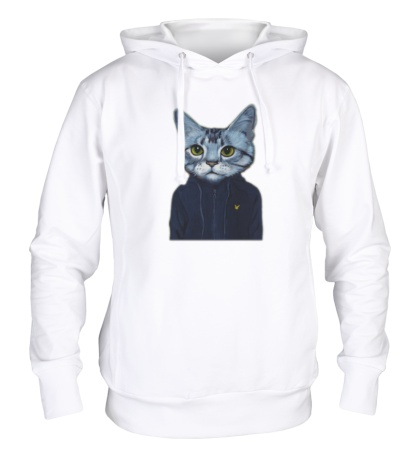 Толстовка с капюшоном Спортивный кот