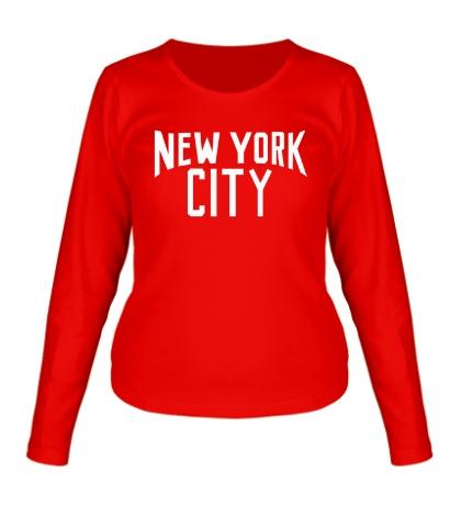 Женский лонгслив New York City