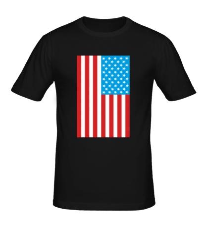 Мужская футболка Американский флаг