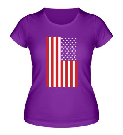 Женская футболка Американский флаг
