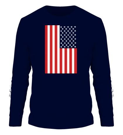 Мужской лонгслив Американский флаг