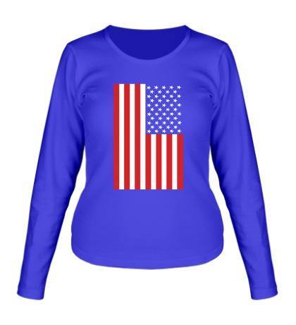Женский лонгслив Американский флаг