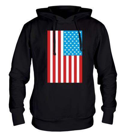 Толстовка с капюшоном Американский флаг