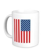 Керамическая кружка Американский флаг