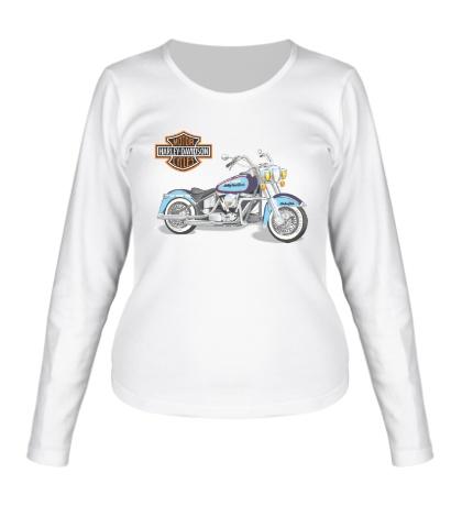 Женский лонгслив Мотоцикл Харлей