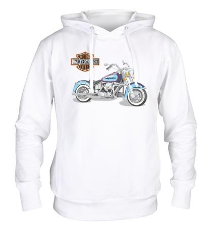 Толстовка с капюшоном Мотоцикл Харлей