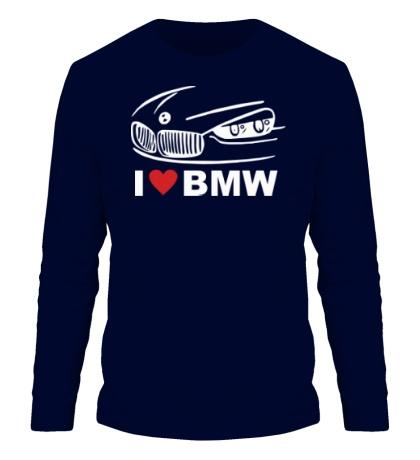 Мужской лонгслив I love BMW