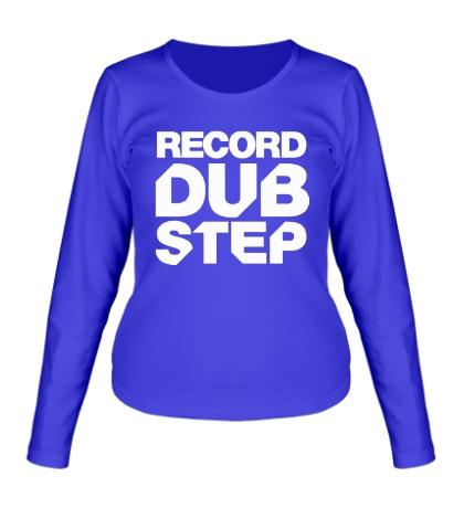 Женский лонгслив Record Dubstep
