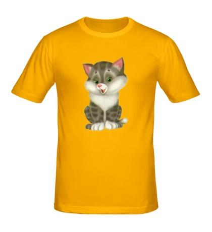 Мужская футболка Пушистый котенок