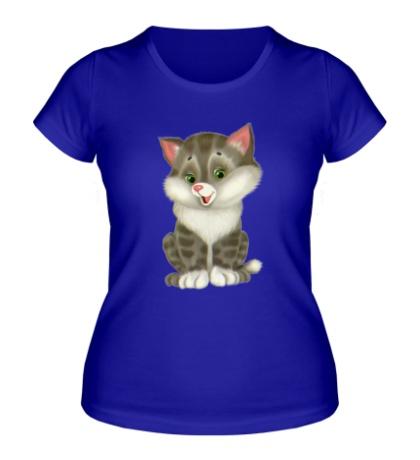 Женская футболка Пушистый котенок