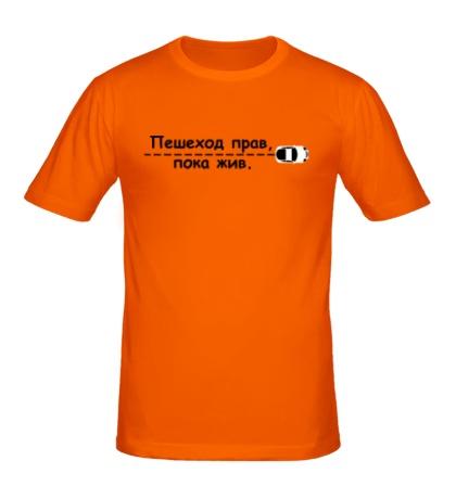 Мужская футболка Пешеход прав, пока жив