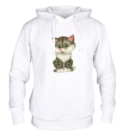 Толстовка с капюшоном Пушистый котенок