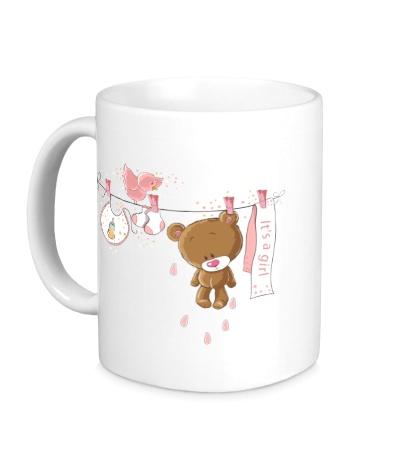 Керамическая кружка Teddy: its a girl