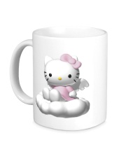 Керамическая кружка Kitty-ангелок
