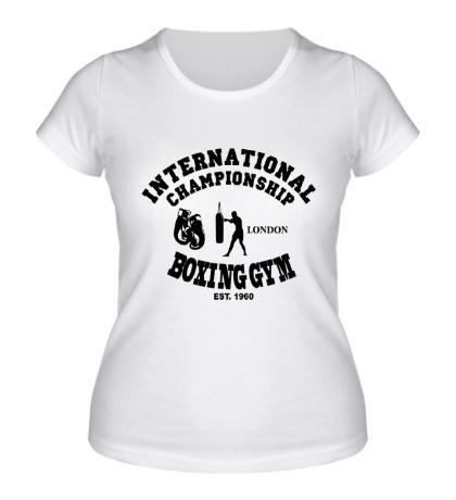 Женская футболка Boxing gym