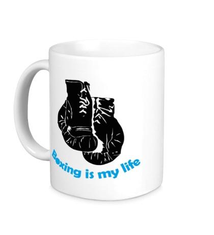 Керамическая кружка Boxing is my life
