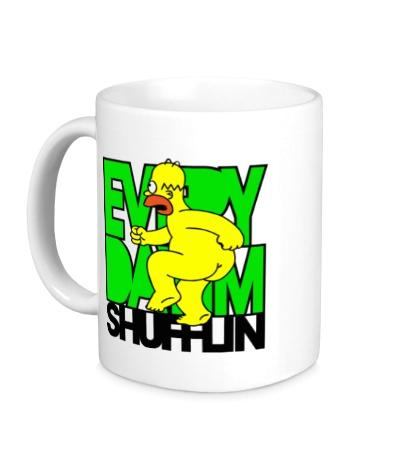 Керамическая кружка LMFAO: Homer Shufflin