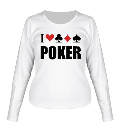 Женский лонгслив I love poker