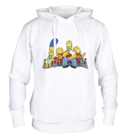 Толстовка с капюшоном Симпсоны в кинотеатре